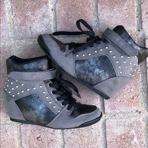 G by Guess Studded Wedge Booties